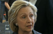 Hillary Clinton addresses media for the first time in nearly a month