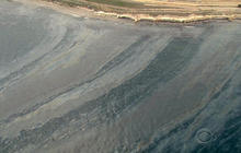 California oil spill slick doubles in size