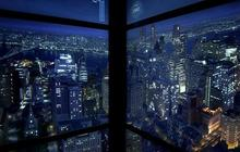 One World Trade Center time-lapse elevators reveal sunset, evening city views