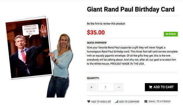 Giant Rand Paul Birthday Card Presidential Candidates Show Their