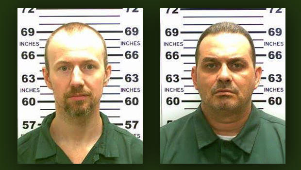 David Sweat, left, and Richard Matt are seen in this combination of photos provided by the New York State Police June 6, 2015.