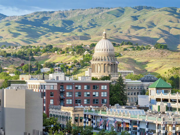 City of Boise Idaho with modern buildings