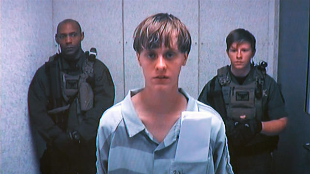 Dylann Roof appears by closed-circuit television at his bond hearing in Charleston, South Carolina, June 19, 2015, in a still image from video.