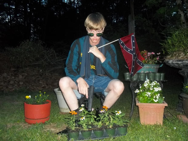 Alleged South Carolina church shooter Dylann Roof is seen in an undated photo taken from a website containing the suspect's purported manifesto.