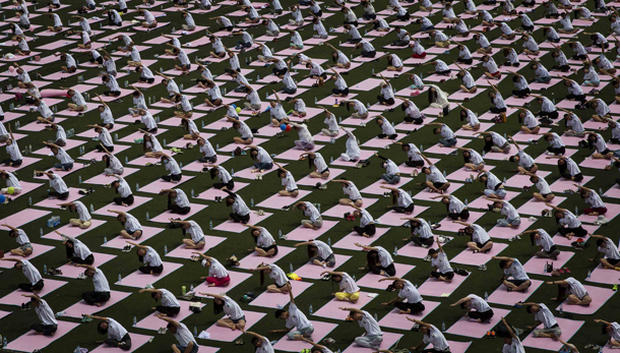 The first International Day of Yoga