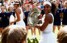 Serena Williams wins fourth straight Grand Slam, Djokovic retains title at Wimbledon