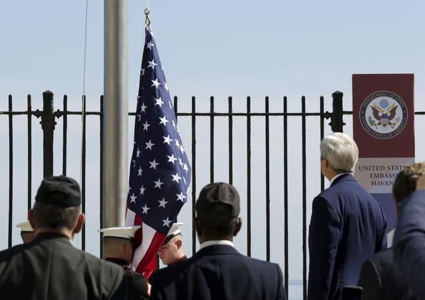 U.S. and Cuba reopen embassies