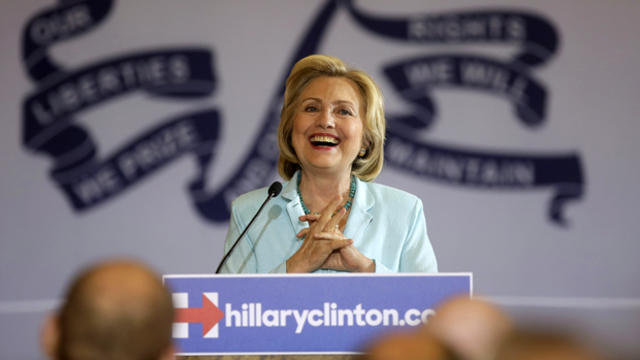 Democratic presidential candidate Hillary Clinton speaks about college affordability during a town hall meeting in Dubuque, Iowa, Aug. 14, 2015.