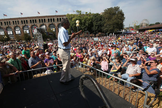 2016 White House hopefuls at the Iowa State Fair
