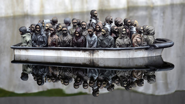 "Part of an installation is pictured at ""Dismaland,"" a theme park-styled art installation by British artist Banksy at Weston-super-Mare in southwest England, Britain, Aug. 20, 2015."