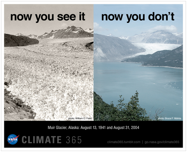 climate change melting glaciers