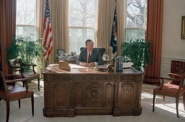 george bush oval office. George H.W. Bush - Vice Presidents Who Ran For President Pictures CBS News Oval Office