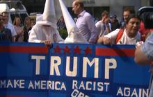 Trump security ruffles protesters making KKK comparisons