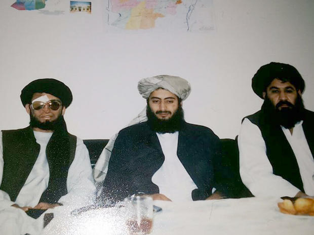 From left, Mullah Nek Muhammad, Afghan businessman Haji Farid and Mullah Akhtar Mansoor, the last being the current leader of the Afghan Taliban, are seen in a photo taken in Frankfurt