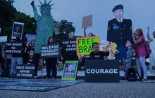 Bradley Manning supporters protest outside White House