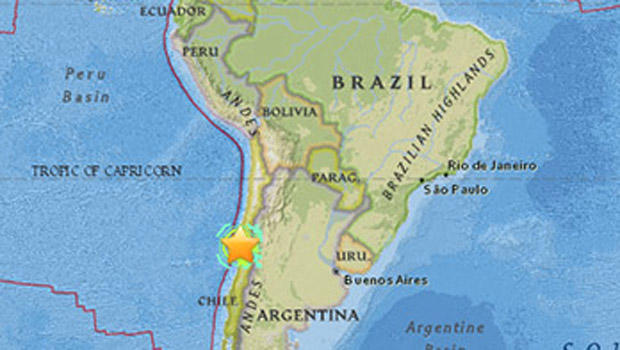 1960 Chile Earthquake Map.Chile Rocked By Deadly 8 3 Magnitude Earthquake Cbs News