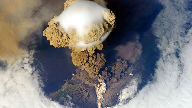 Volcanoes seen from space