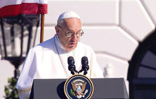 Pope Francis hits controversial topics during first morning in U.S.