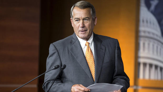 Speaker of the House John Boehner, R-Ohio, arrives to speak at a news conference on Capitol Hill in Washington Sept. 10, 2015.