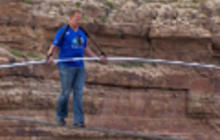 Daredevil Nik Wallenda walks across gorge near Grand Canyon