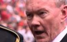 General Dempsey sings the national anthem
