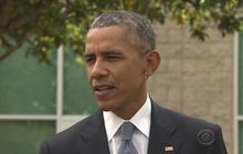 President Obama visits shooting victims' families in Roseburg, Oregon