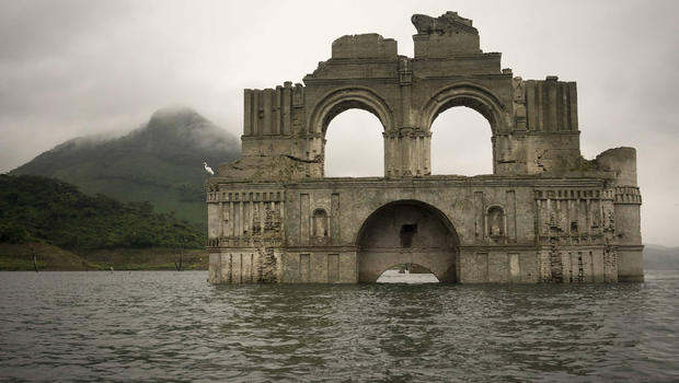 Colonial Mexican Church Rises From Receding Reservoir