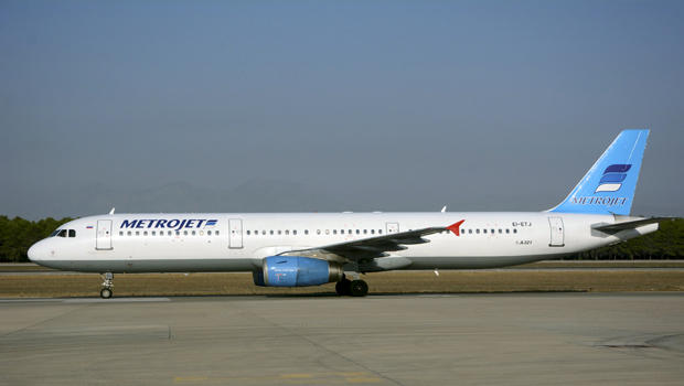 The Metrojet Airbus A-321 with registration number EI-ETJ that crashed in Egypt's Sinai Peninsula is seen in this picture taken in Antalya, Turkey, Sept. 17, 2015.