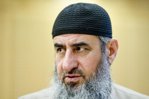 Najmaddin Faraj Ahmad, known as Mullah Krekar, is seen in a court in Oslo