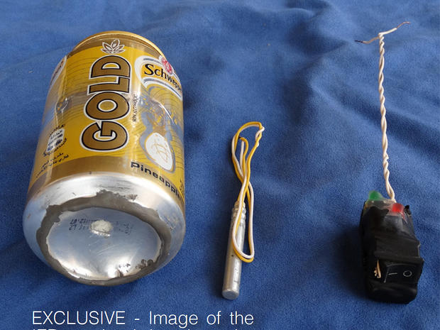 An image published online by ISIS on Nov. 18, 2015, shows what the group claims to be the bomb used to destroy a Russian Metrojet airliner as it flew over Egypt's Sinai Peninsula on Oct. 31, 2015. The image could not be independently verified.