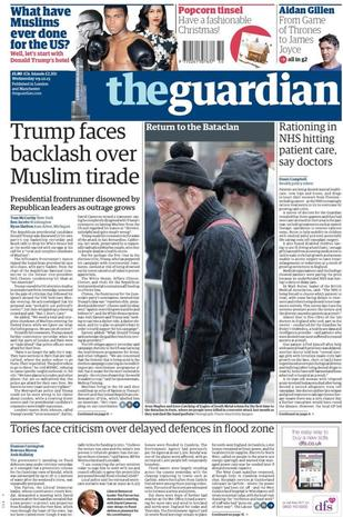 Front page reactions to Trump's Muslim ban