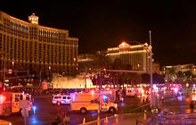One dead, dozens hurt after driver rams into Las Vegas crowd