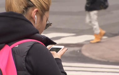 The dangers of walking while texting and talking