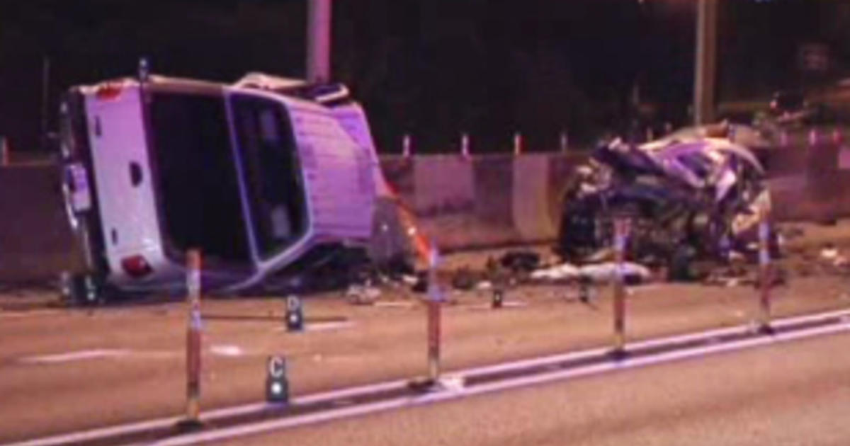 5 killed in wrong-way crash on I-95 near Miami - CBS News