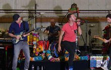 Coldplay prepares to hit the Super Bowl stage