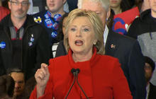 Hillary Clinton addresses supporters after Iowa caucuses