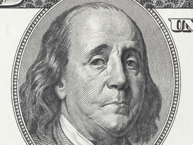 Crying president Franklin