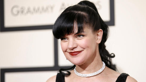 Actress Pauley Perrette arrives at the 58th Grammy Awards in Los Angeles, California, Feb. 15, 2016.