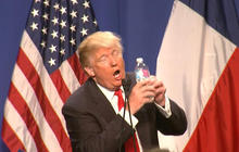 Donald Trump mocks Marco Rubio's 2013 water bottle gaffe