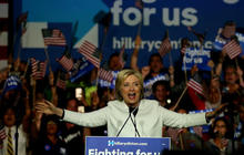 Hillary Clinton focuses on Donald Trump after Super Tuesday