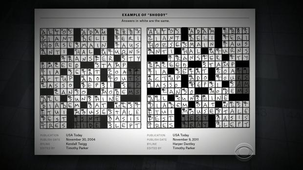 Crossword Puzzle Do Clues Reveal Plagiarism Cbs News