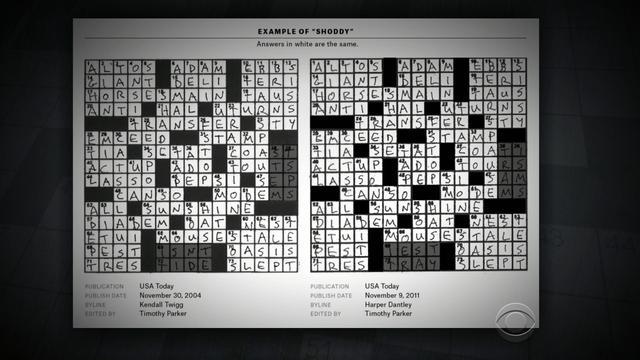Crossword Puzzle Do Clues Reveal Plagiarism Cbs News