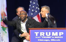 Trump protesters shut down Chicago rally