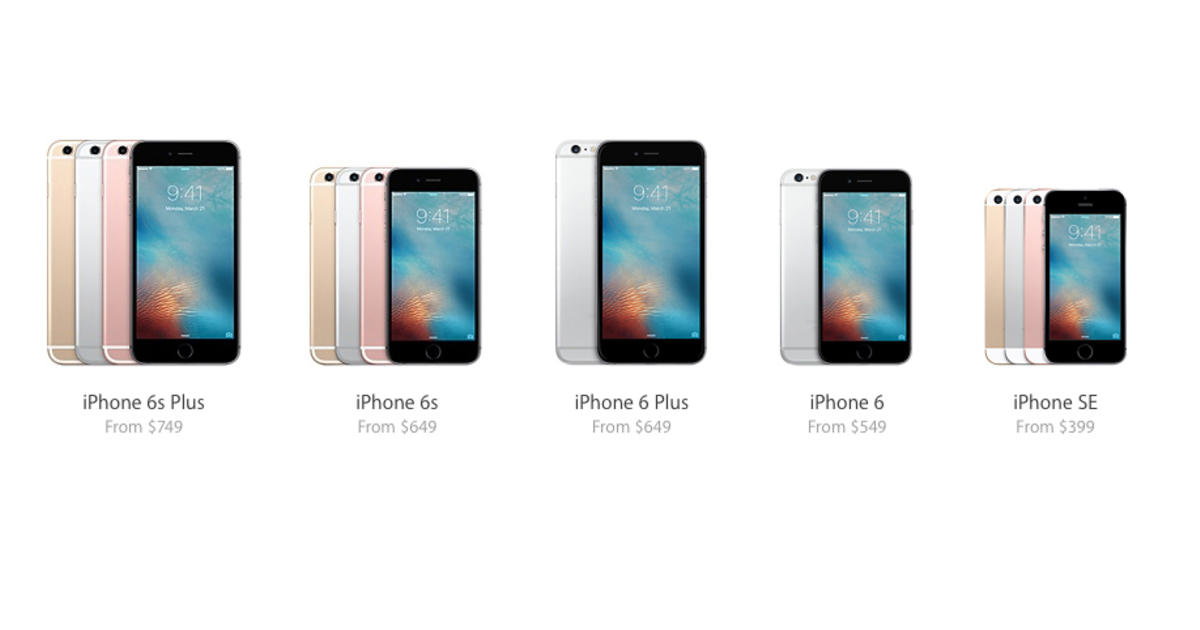 compare iphone models iphone se how does apple s new smaller iphone compare 1600