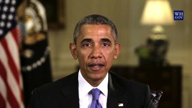 ​President Obama delivers his weekly address in a video released April 23, 2016.