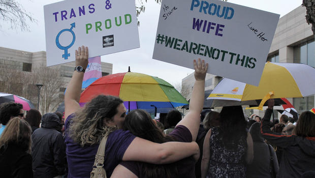 bathroom laws spurring transgender americans to organize - cbs news