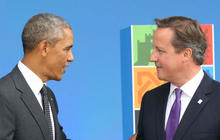 Obama dines with queen and jumps into Britain's EU debate