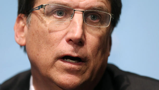 North Carolina Gov. Pat McCrory holds a news conference with fellow members of the Republican Governors Association at the U.S. Chamber of Commerce Feb. 23, 2015, in Washington.