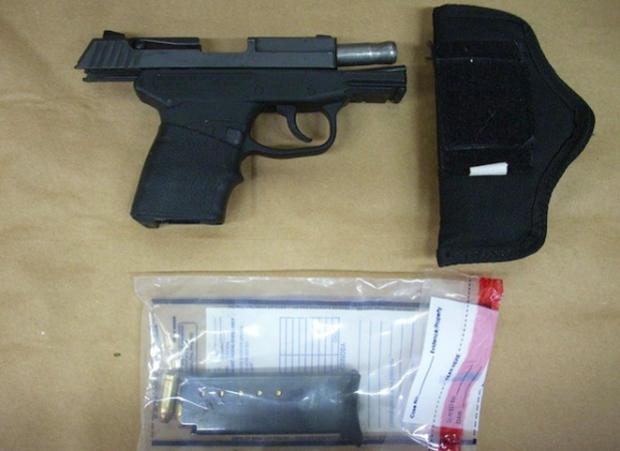 George Zimmerman's 9 mm Kel-Tec PF-9 pistol, used in the 2012 killing of Trayvon Martin