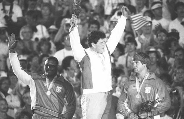 Dave Laut wins bronze at 1984 Games